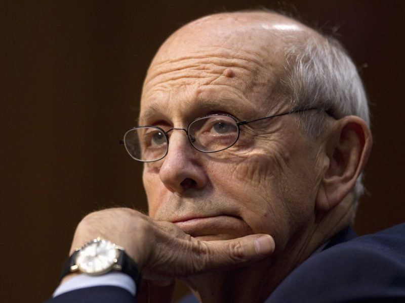 "Supreme Court Justices Stephen Breyer testifies on Capitol Hill in Washington, Wednesday, Oct. 5, 2011, before the Senate Judiciary Committee hearing; ""Considering the Role of Judges Under the Constitution of the United States.""  (AP Photo/Evan Vucci"